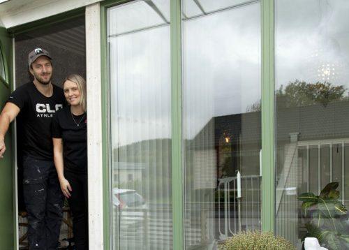 Nya fönster och ytterdörr i Åled